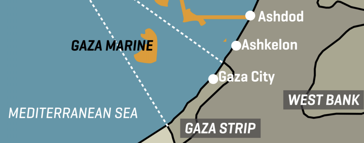 Gaza Marine Field, Surrounding Gas Infrastructure