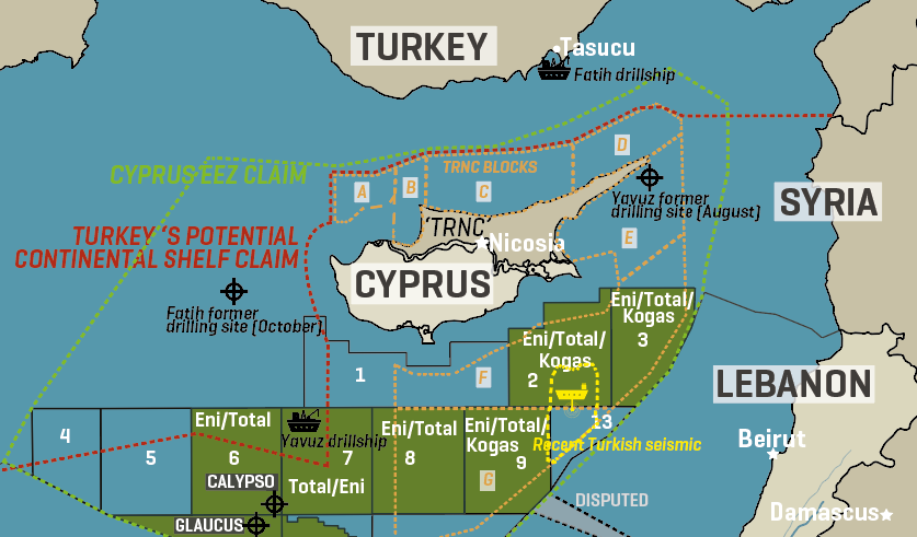 Cyprus & turkey East Mediterranean Claims