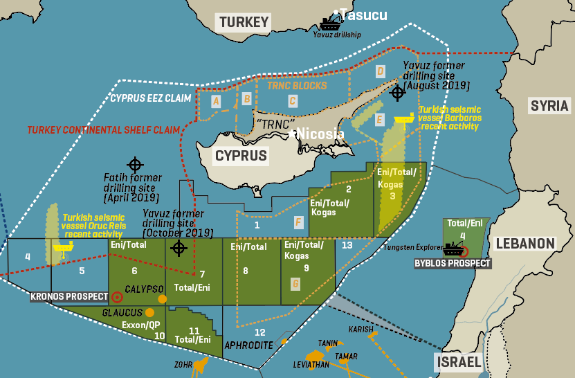 Cyprus: Drilling Activity Around The Island