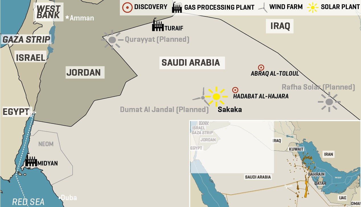 Saudi Arabia Plans Energy Development Of Northwest