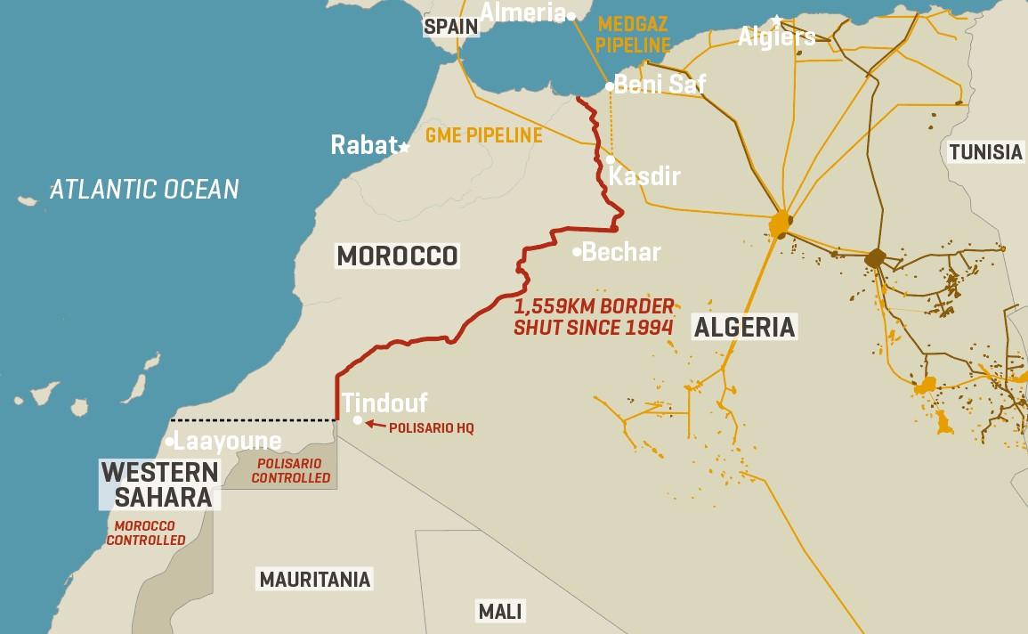 Algeria-Morocco-Western Sahara: Mapping A Relationship