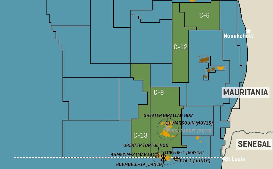 BP & Kosmos Mauritania/Senegal Gas Finds