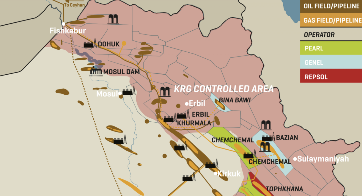 Northern Iraq: Major Oil And Gas Infrastructure