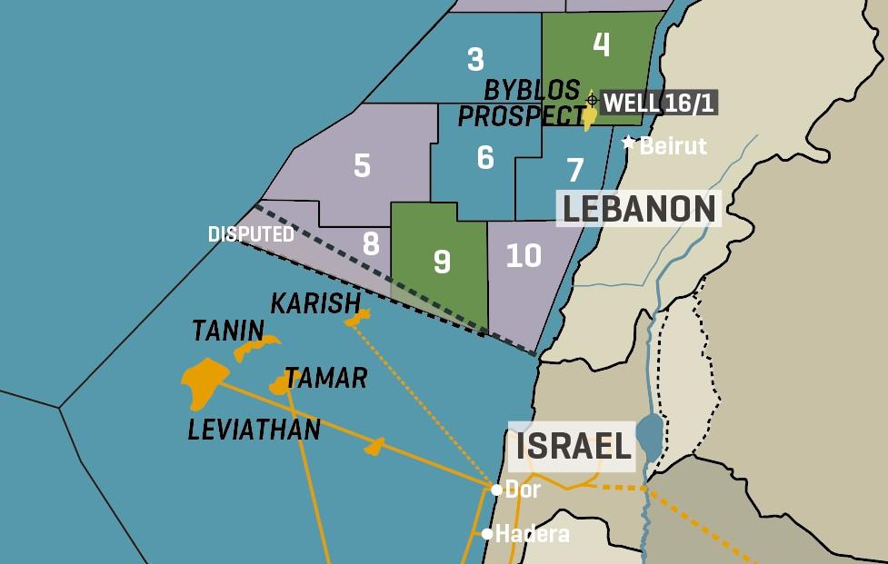 Lebanon Offshore Blocks