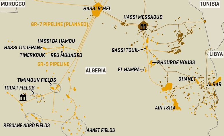 Algeria's Key Oil And Gas Infrastructure
