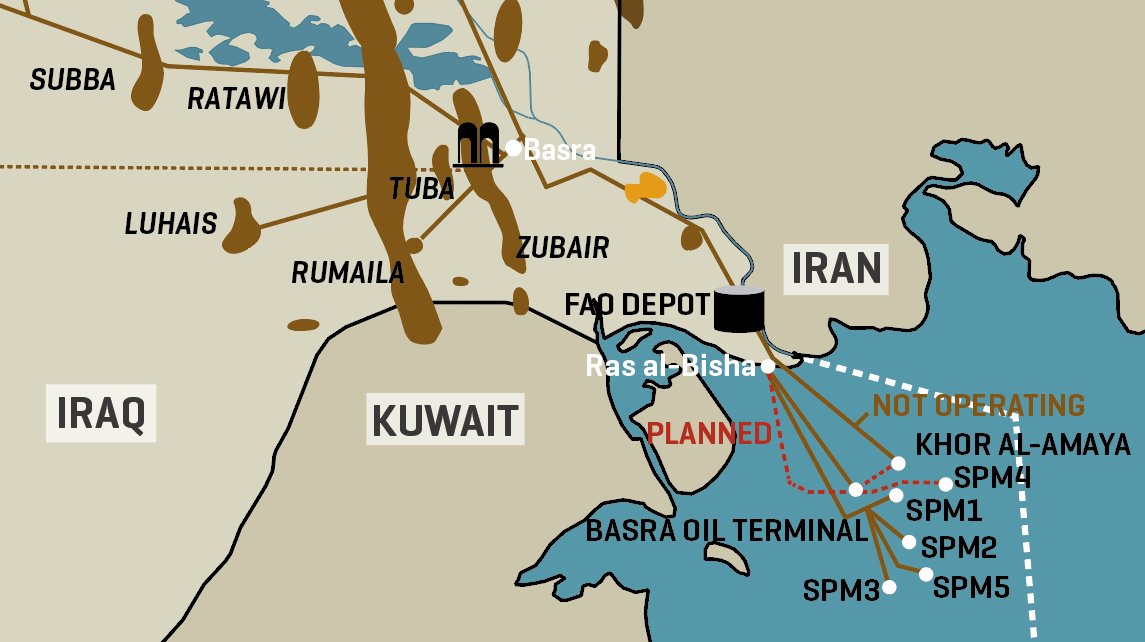 Iraq's southern Oil And Gas Infrastructure