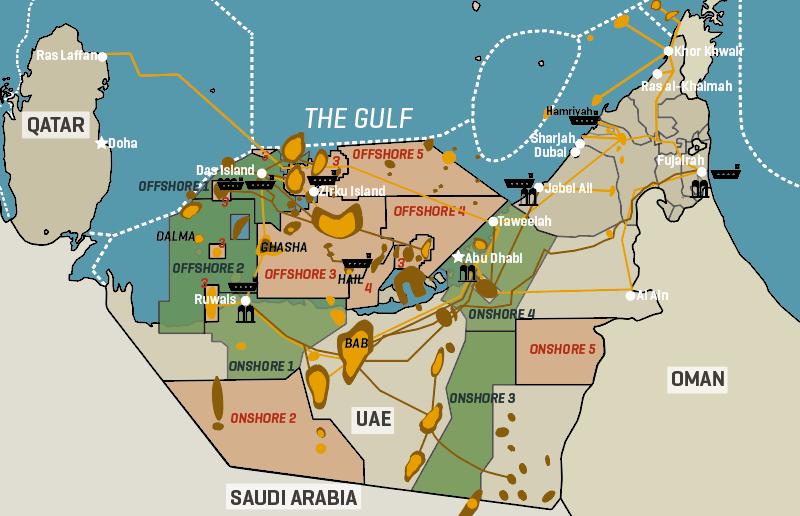 Abu Dhabi 2018 & 2019 Bid round Blocks