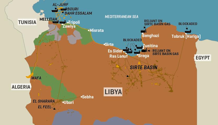 Libya: Key Oil & Gas Infrastructure
