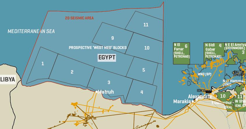Egypt: Prospective West Mediterranean Exploration Blocks