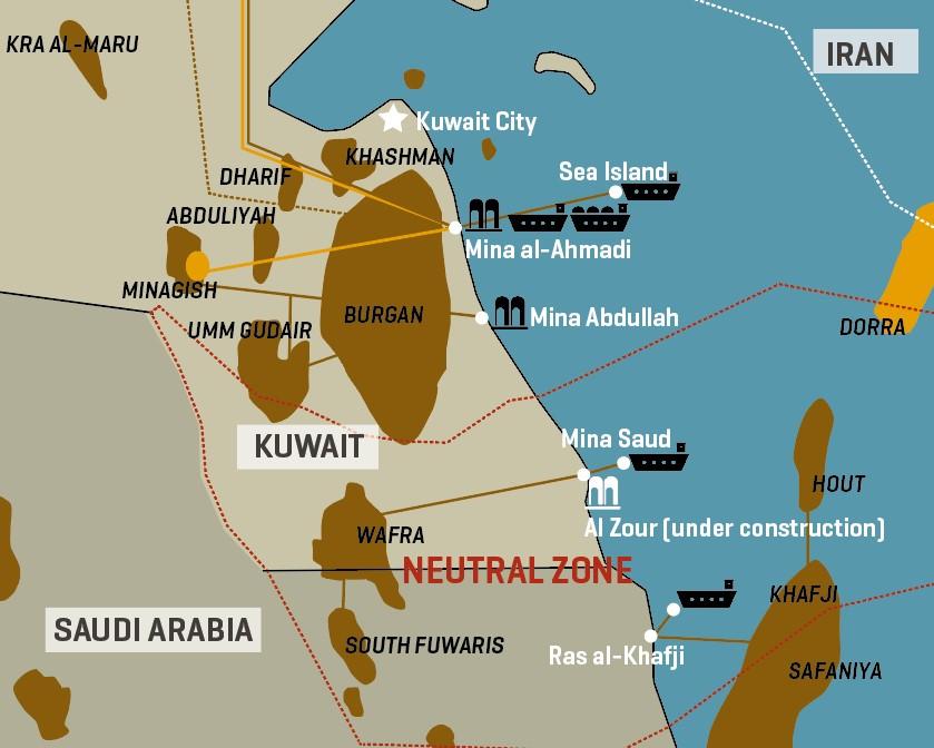 Kuwait/Saudi Neutral Zone: Oil Infrastructure
